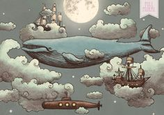 Ocean Meets Sky - Whimsical wallpapers for walls - Muffin & Mani wall mural