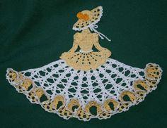 Ms Poppy Crinoline Girl Doily-crochet pattern to buy Crochet Doily Patterns, Crochet Quilt, Crochet Art, Thread Crochet, Love Crochet, Crochet Motif, Beautiful Crochet, Crochet Doilies, Knitting Patterns