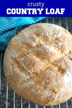 This crusty bread recipe is one of the easiest homemade bread recipes you can make with 4 basic ingredients: bread flour, water, yeast and salt. Classic Bread Recipe, Basic White Bread Recipe, Homemade White Bread, Fluffy White Bread Recipe, Homemade Food, Loaf Recipes, Easy Bread Recipes, Cooking