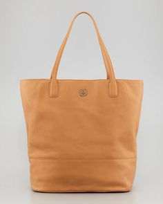 Tory Burch Michelle Tote Bag, Tan - Neiman Marcus