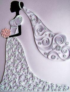 квиллинг-невеста.