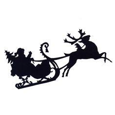 Free SVG File Download – Santa and Sleigh – BeaOriginal - Blog