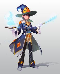 Magician, Dawon Kang on ArtStation at https://www.artstation.com/artwork/nyyN1