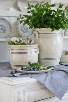 ,pretty summer blue and white vignette