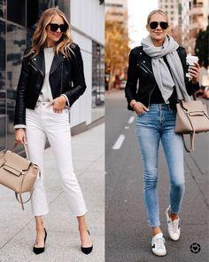 Posts from fashion_jackson White Jacket Outfit, Leather Jacket Outfits, Fall Outfits, Casual Outfits, Fashion Outfits, Womens Fashion, Casual Chic, Paris Fashion, Winter Fashion