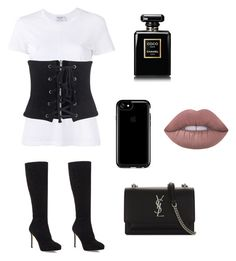 0951 by aryakhannal on Polyvore featuring polyvore, beauty, Lime Crime, Chanel, Speck, WithChic, Yves Saint Laurent, Frame and Jimmy Choo