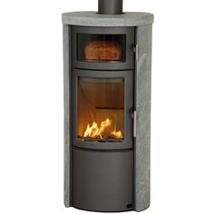 Heta Scanline 520 Wood Cooking Stove.    Clad in soapstone for efficient radiant heating throughout the night.  Cook oven for baking and slow-cooking.  Small, and very efficient, this may be the ideal wood stove for my tiny mountain getaway.