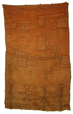 Africa | Kuba people | DR of Congo | Single  panel from an appliqué dance skirt