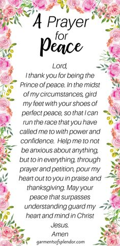 God's Word is filled with Scripture about peace to calm your heart. Take a look at these 31 Scriptures to fill your heart with the peace of Christ. Prayer For Peace, Peace Of God, Prayer For You, Power Of Prayer, Daily Prayer, Words Of Peace, Inner Peace, Peace Scripture, Scripture Reading