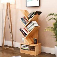Tree Bookshelf, Modern Bookshelf, Bookshelf Design, Bookcase Shelves, Vintage Bookshelf, Book Racks, Shelves In Bedroom, Home And Living, Living Room