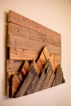 Wooden Mountain Range Wall Art by 234Woodworking on Etsy