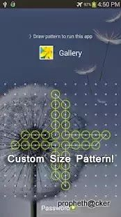 You wanna something new for your android ,so you are on right place. This app is wow you can set custom pattern lock. Now you set 18*18 dots in your pattern lock . This is very hard combination to guess.Basicallly this is a app locker app .This app many interseting feature.