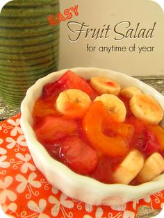 My favorite fruit salad easy recipe! It's perfect for anytime of the year!