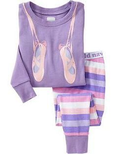 Ballet Slipper PJ Sets for Baby | Old Navy Мягкая трикотажная пижамка из хлопка.