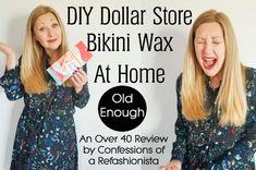 DIY Dollar Store Bikini Wax At Home ~ Confessions of a Refashionista Diy Bikini Waxing, Diy Beauty Tutorials, Down Hairstyles, Dollar Stores, Confessions, Effort, Fancy, Adventure, Bikinis