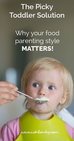 The picky toddler solution. Your parenting style can determine whether or not your child is picky! What are your thoughts?