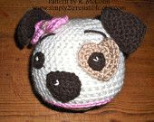 $2.99 Hound Dog Hat Pattern - Crochet Pattern Number 19 - Beanie and Earflap Pattern - Newborn to Adult - US or UK Terms