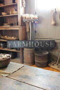 Early looking Antique Primitive FARMHOUSE by MillRiverPrimitives