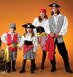 Halloween pirate McCall's 4952 Pirate Costumes for Kids in Sizes 3-8. $3.00, via Etsy.