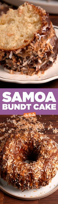This Bundt Cake Tastes Exactly Like A Samoa Girl Scout Cookie