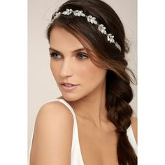 Go With Grace Grey and Silver Rhinestone Headband ($22) ❤ liked on Polyvore featuring accessories, hair accessories, hair, silver, ribbon hairband, silver hair accessories, sparkly hair accessories, head wrap headbands and sparkly headbands