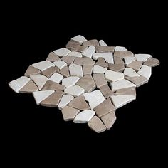Found it at Wayfair - Fit Random Sized Natural Stone Pebble Tile in Tan White Blend