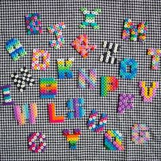Alphabet hama perler beads by Sueños de Craft | plastic canvas ...