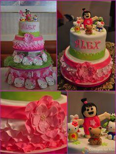 Pretty cake. It's my little girl's 1st birthday! We love you little Alex!