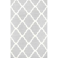 Found it at Joss & Main - Monique Light Gray Marrakech Trellis Rug, Love this color of light gray/blue for a bedroom..... would like it to be a,  bit more plush but beautiful color!