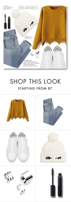 """""""beanies"""" by djordjijak ❤ liked on Polyvore featuring Mix Nouveau, Yves Saint Laurent, Kate Spade, Chanel and beanies"""