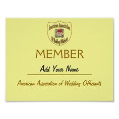 Membership Certificate AAWO,edit name on web
