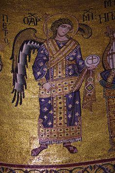 Archangel Michael,  Cattedrale di Monreale, 1174-1182 #TuscanyAgriturismoGiratola