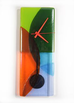 Prism Pendulum Clock by Nina Cambron: Art Glass Clock available at www.artfulhome.com