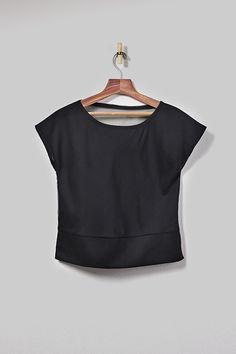 Shop the Black Sheer Back Top at enrou.co now. | @enrou