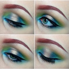 blue, colors, sugarpil heartbreak, ariel costumes, beauti, costume makeup, heartbreak pallet, marin color, aqua eye