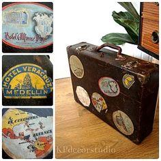 Maletas antiguas vintage decoración ** Suitcases