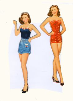 The Paper Collector: Elaine Stewart paper dolls