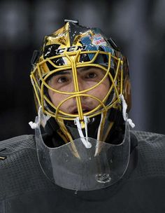 LAS VEGAS, NV - SEPTEMBER 28: Marc-Andre Fleury #29 of the Vegas Golden Knights stands on the ice during a break in a preseason game against the Colorado Avalanche at T-Mobile Arena on September 28, 2017 in Las Vegas, Nevada. (Photo by Ethan Miller/Getty Images)