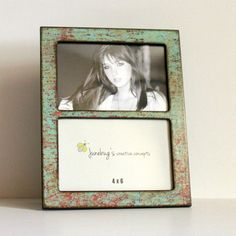Double 4x6 or 5x7 2 Photo Picture Frame Oxidized by JunebugsCC