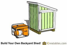 Generator Enclosure Shed Plans - Build Your Own Generator Shed 10x12 Shed Plans, Lean To Shed Plans, Free Shed Plans, Building A Storage Shed, Wood Storage Sheds, Diy Garage Storage, Build Your Own Shed, Build Your Dream Home, Generator Shed