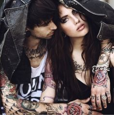 Find images and videos about love, boy and couple on We Heart It - the app to get lost in what you love. Couple Tattoos, Love Tattoos, Sexy Tattoos, Girl Tattoos, Amazing Tattoos, Tatoos, Tattoo Photography, Couple Photography, Tattoo Zone