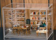 Miniature library scene