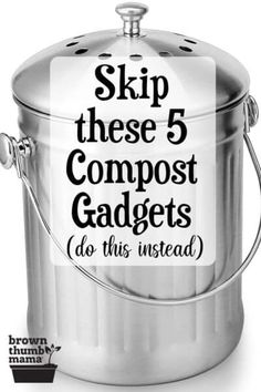 You don't need fancy tools to make compost. Here are five compost gadgets that you shouldn't buy, and what to use instead. #gardening #organicgardening #nowaste #repurpose #upcycle #permaculture Growing Cherry Tomatoes, Growing Tomatoes In Containers, Growing Vegetables, Gardening For Beginners, Gardening Tips, How To Grow Cherries, Compost Tumbler, Organic Gardening, Vegetable Gardening