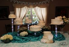 - Our youngest daughter was married last weekend.  I chose to do a Deconstructed Wedding Cake for the reception.  So much fun!
