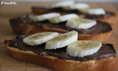 Tostada caliente de chocolate y plátano | L'Exquisit
