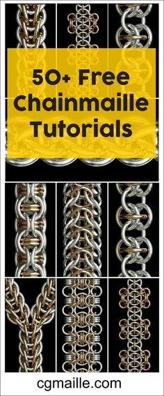FREE Chainmaille Tutorials. Simple DIY Jewelry Patterns To Get You Started Making Chainmaille. #chainmailletutorials