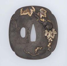 Tsuba with design of squirrel and vine | Museum of Fine Arts, Boston