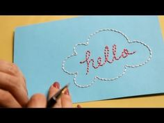Embroider on Paper #how #to #card