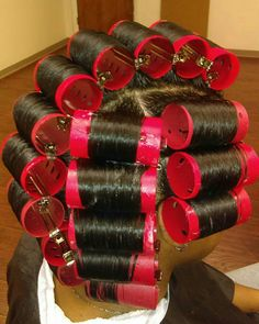 (notitle) Sure, the bushy perms of the might be out of vogue, but there are teemingness (generic Roller Set Natural Hair, Long Natural Hair, Natural Hair Journey, Girls Natural Hairstyles, Ethnic Hairstyles, Permed Hairstyles, Hairdos, Roller Set Hairstyles, Healthy Relaxed Hair