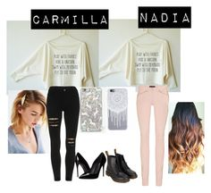 """""""Carmilla and Nadia"""" by nadiamasri ❤ liked on Polyvore featuring Isabel Marant, Skinnydip, Dolce&Gabbana and Dr. Martens"""